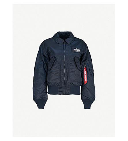 ALPHA INDUSTRIES CWU 45/P shell flight jacket (Rep+blue