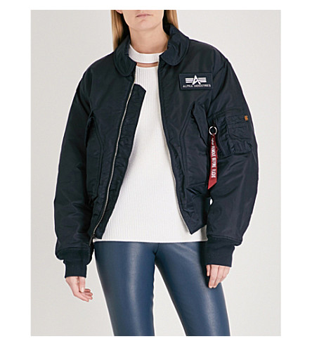 ALPHA INDUSTRIES CWU 45/P shell flight jacket (Rep blue