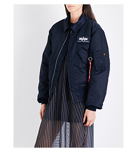 ALPHA INDUSTRIES CWU 45/P shell bomber jacket (Rep+blue