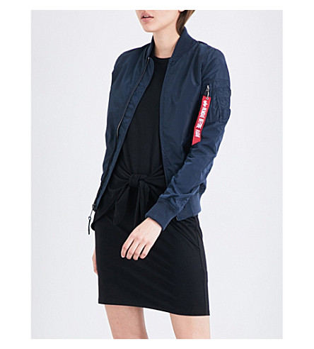 ALPHA INDUSTRIES Shell bomber jacket (Rep+blue