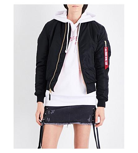 ALPHA INDUSTRIES MA-1 shell bomber jacket (Black