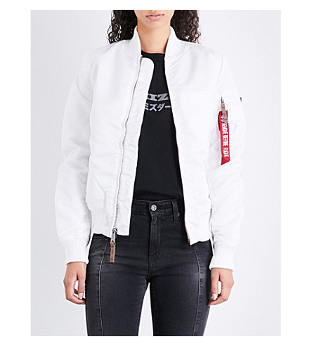 ALPHA INDUSTRIES MA-1 shell bomber jacket (White