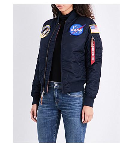 ALPHA INDUSTRIES NASA MA-1 shell flight jacket (Rep+blue