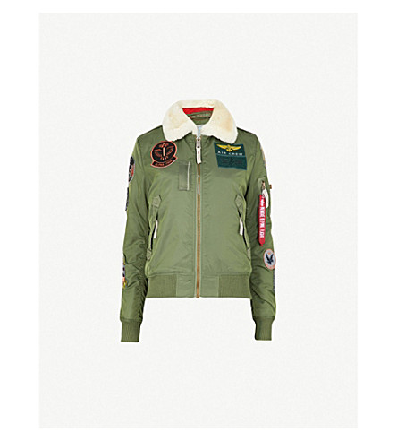 ALPHA INDUSTRIES Injector padded shell bomber jacket (Sage