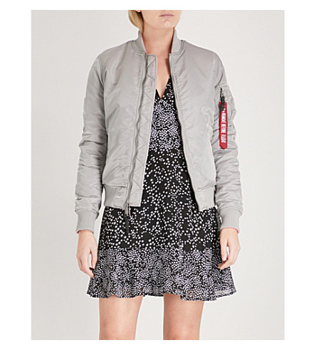 ALPHA INDUSTRIES VF IP reversible padded shell bomber jacket (Silver
