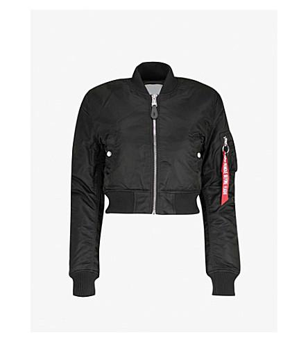 ALPHA INDUSTRIES MA-1 SF PM shell bomber jacket (Black
