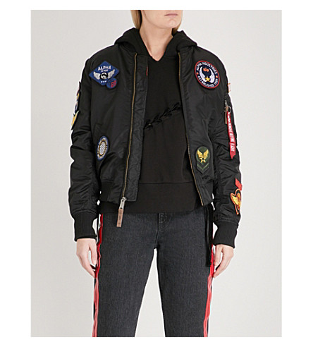 ALPHA INDUSTRIES VF DIY padded shell bomber jacket (Black