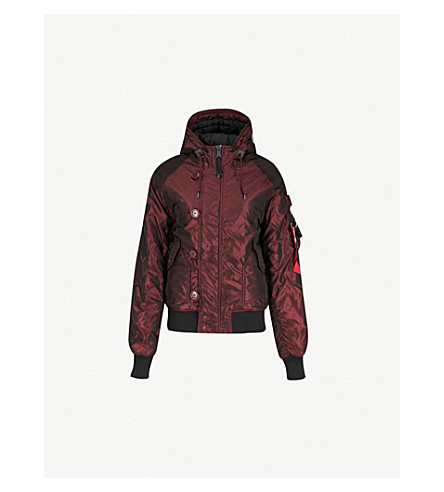ALPHA INDUSTRIES Hunter II hooded shell field jacket (Burgundy