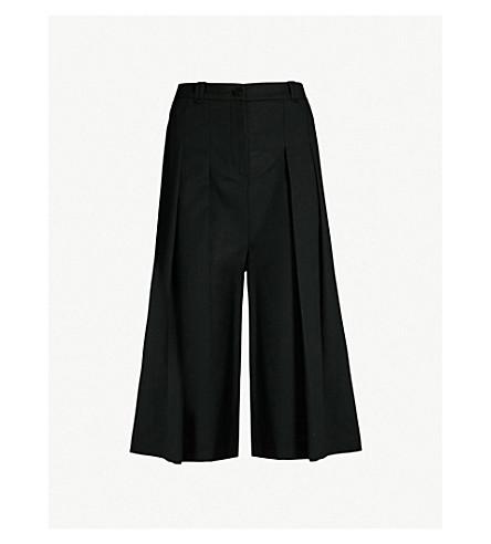 MCQ ALEXANDER MCQUEEN Atami high-rise pleated wool trousers (Black