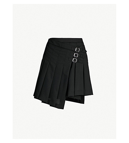 MCQ ALEXANDER MCQUEEN Pleated wool skirt (Black