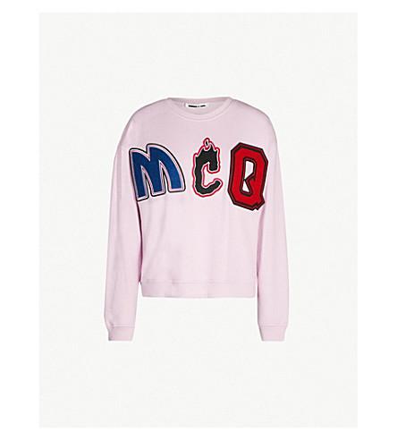 MCQ ALEXANDER MCQUEEN MCQ-print slouch cotton-blend sweatshirt (Miami pink