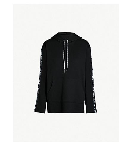 MCQ ALEXANDER MCQUEEN Logo cotton-jersey hoody (Darkest black