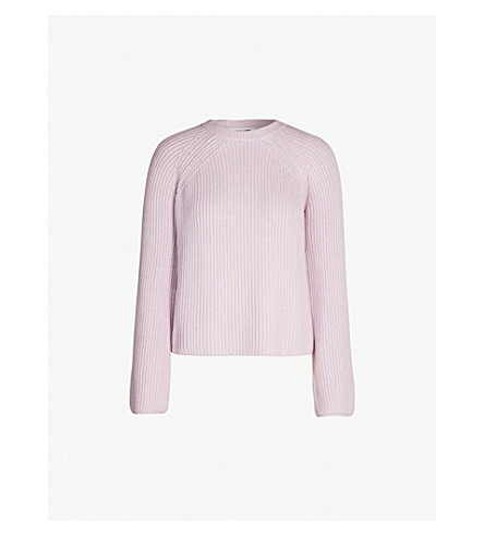 MCQ ALEXANDER MCQUEEN Lace-up knit cotton jumper (Miami pink