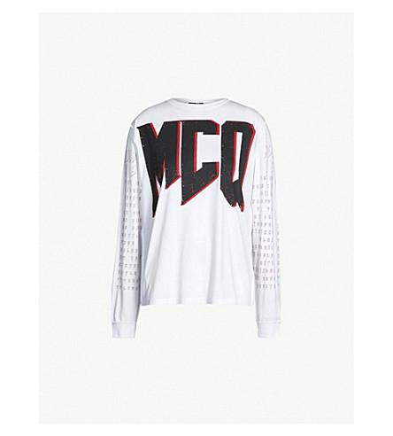 MCQ ALEXANDER MCQUEEN Graphic logo-print cotton-jersey sweatshirt (Optic white