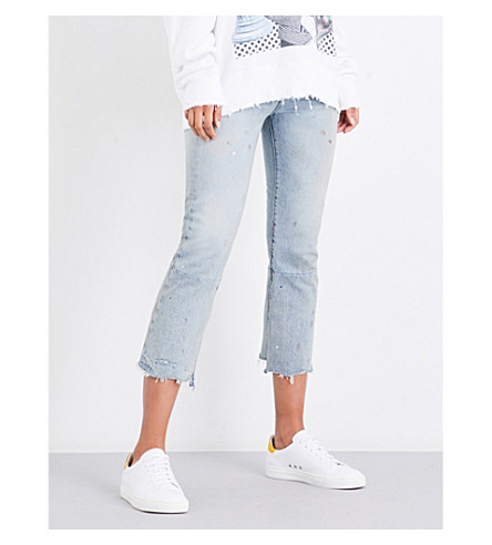 R13 Kick-flare mid-rise cropped jeans (Tompkins