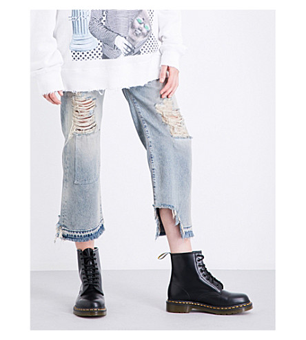 R13 Camille bootcut mid-rise jeans (Leyton+blue+wash