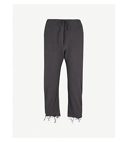 R13 Field cropped cotton jogging bottoms (Vinatge+black