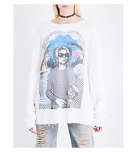 R13 Kurt cotton-jersey sweatshirt (White