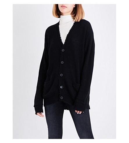 R13 Distressed cashmere cardigan (Black
