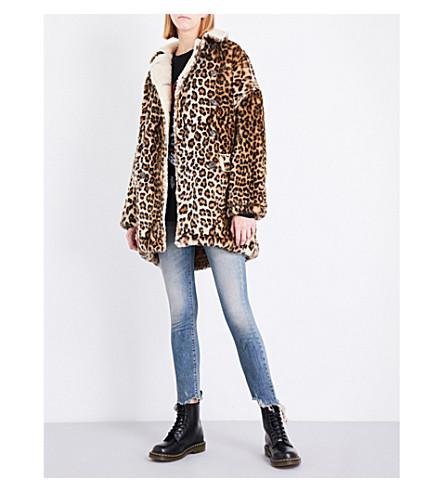 R13 Leopard faux-fur coat (Leopard