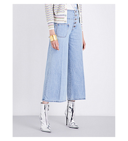MARC JACOBS Wide cropped high-rise jeans (Retro+indigo