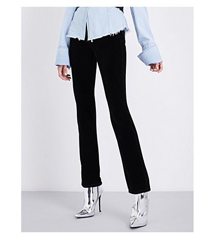 MARC JACOBS Straight high-rise velvet trousers (Black