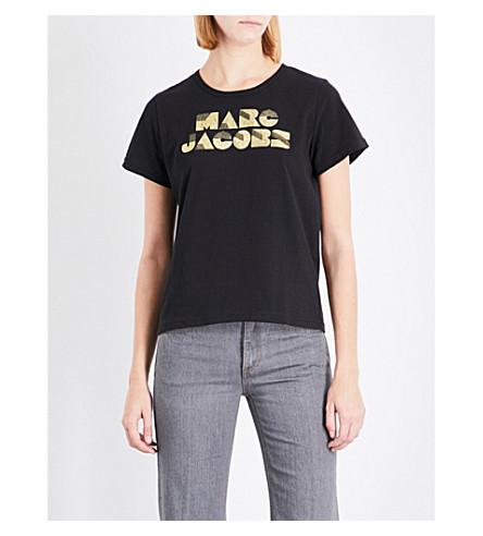 MARC JACOBS Logo-print cotton-jersey T-shirt (Black