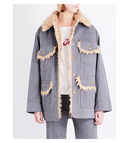 MARC JACOBS Oversized cotton jacket (Grey