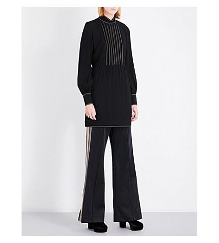 MARC JACOBS High-neck crepe dress (Black