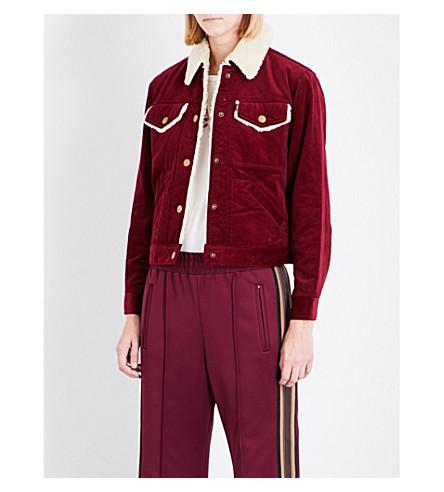 MARC JACOBS Cropped cotton corduroy jacket (Bordeaux