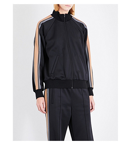 MARC JACOBS Track jersey jacket (Black+multi
