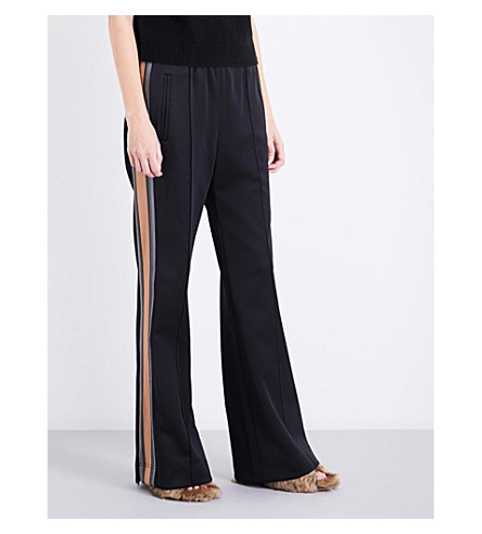 MARC JACOBS Striped-sides jersey jogging bottoms (Black+multi