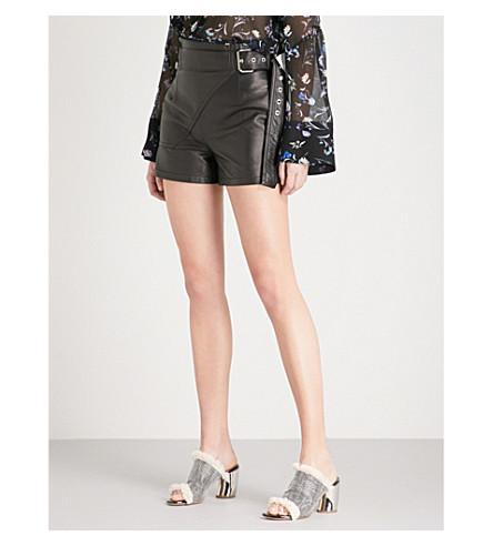 3.1 PHILLIP LIM Utility high-rise leather shorts (Black
