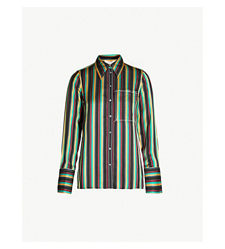 3.1 PHILLIP LIM Striped satin shirt (Blk multi stripe