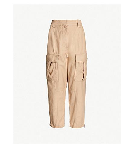 3.1 PHILLIP LIM Pocket-embellished high-rise straight cotton cargo pants (Khaki