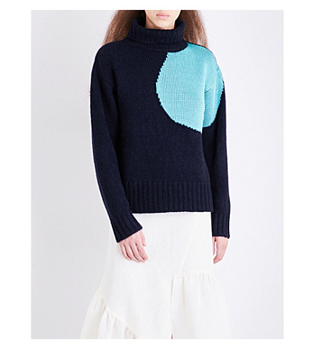 3.1 PHILLIP LIM Circle alpaca and wool-blend jumper (Midnight