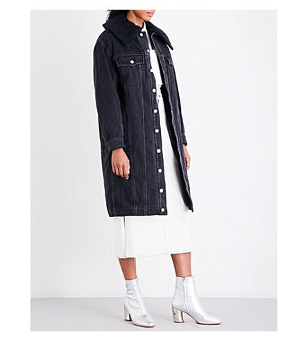 3.1 PHILLIP LIM Sherpa-lined denim jacket (Black