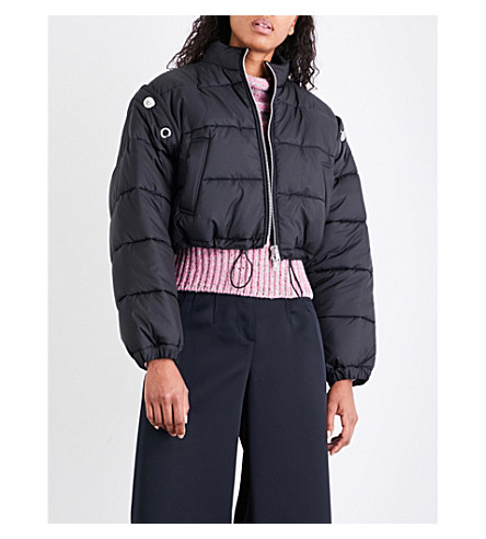 3.1 PHILLIP LIM Detachable-sleeve quilted shell puffer jacket (Black