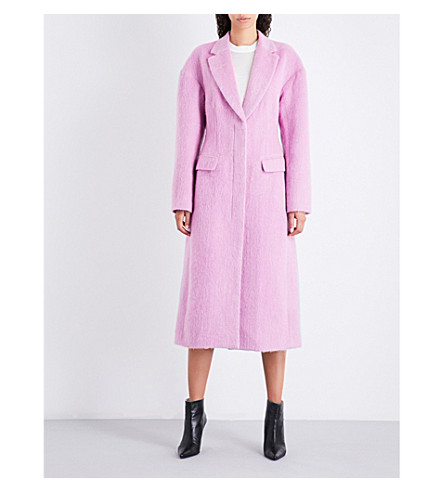 3.1 PHILLIP LIM Single-breasted tailored woven overcoat (Candy+pink