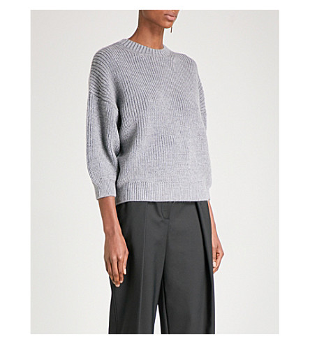 3.1 PHILLIP LIM Puff-sleeve wool and mohair-blend jumper (Charcoal