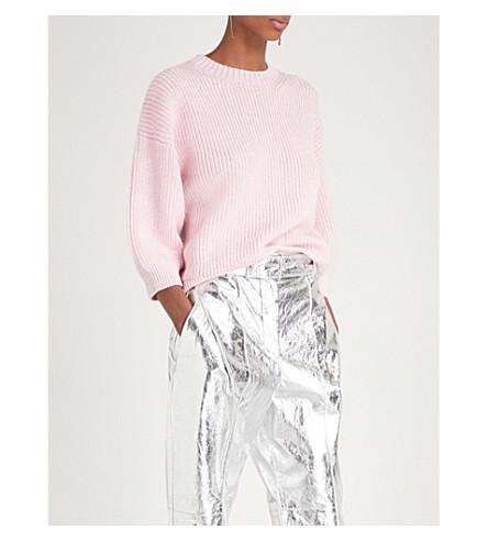 3.1 PHILLIP LIM Puff-sleeve wool and mohair-blend jumper (Petal pink