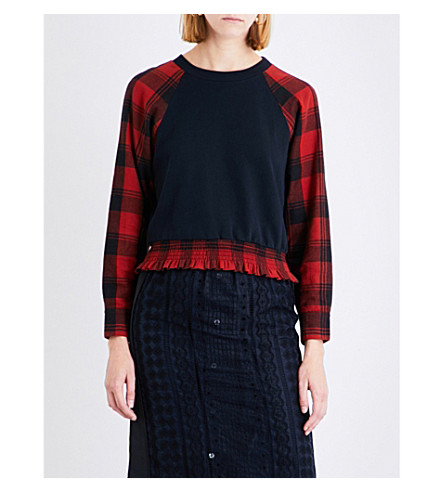 3.1 PHILLIP LIM Plaid cotton sweatshirt (Midnight