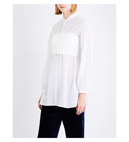 3.1 PHILLIP LIM Corset cotton shirt (White