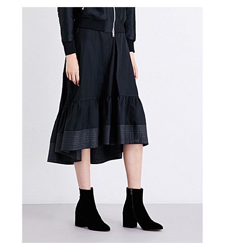 3.1 PHILLIP LIM Ruffled-hem cotton skirt (Black