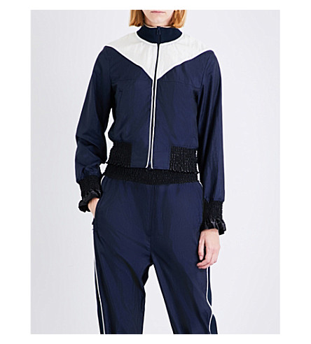 3.1 PHILLIP LIM Panelled shell bomber jacket (Navy