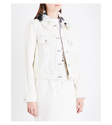 3.1 PHILLIP LIM Sherpa collar denim jacket (White