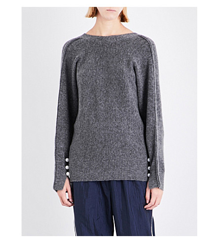 3.1 PHILLIP LIM V-reverse knitted sweatshirt (Grey
