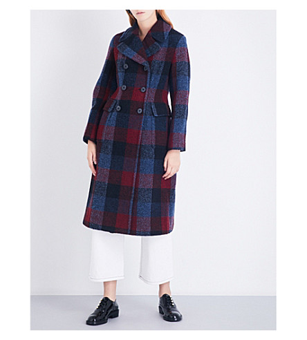 3.1 PHILLIP LIM Bouclé double-breasted check wool overcoat (Buffalo+check