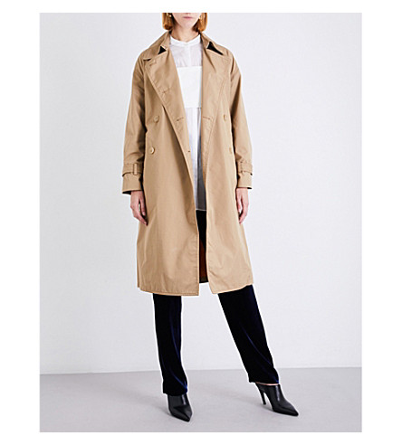 3.1 PHILLIP LIM Double-breasted cotton-blend trench coat (Khaki