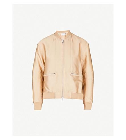 3.1 PHILLIP LIM Split-side satin bomber jacket (Nude